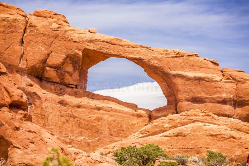 Nordfenster in den Bögen Nationalpark, Utah lizenzfreie stockbilder