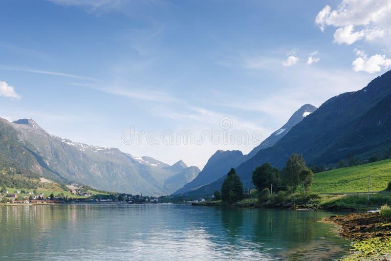 Nordfjord, ville vieille, Norvège images libres de droits