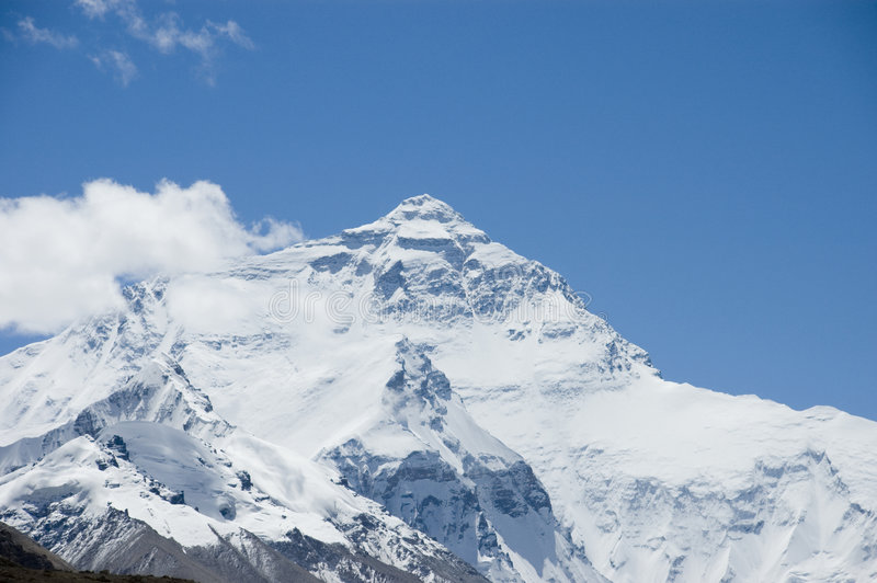 Nordgesicht Mt Everest lizenzfreies stockbild