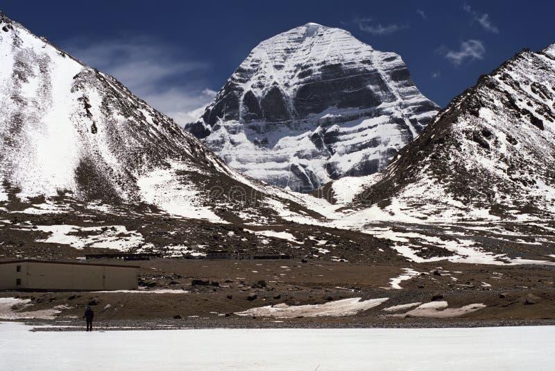 Am Nordgesicht vom heiligen Kailash lizenzfreies stockbild