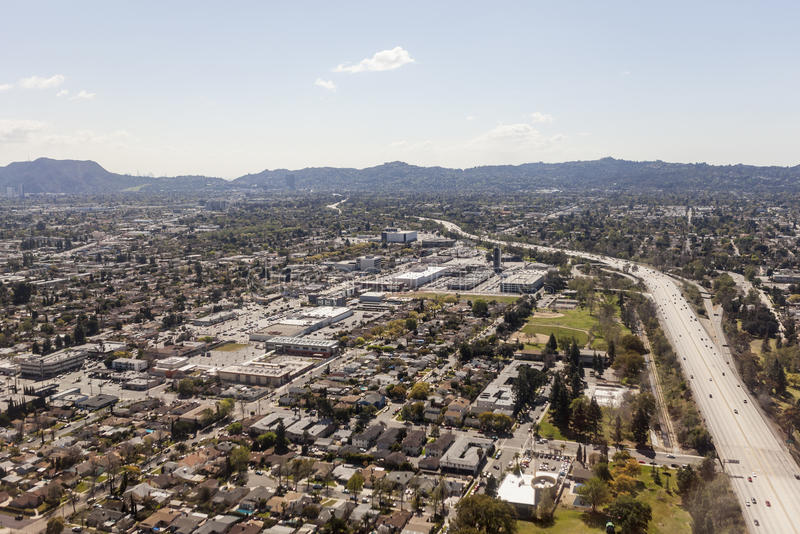 Nordautobahn-Antenne Hollywood Kalifornien stockbild