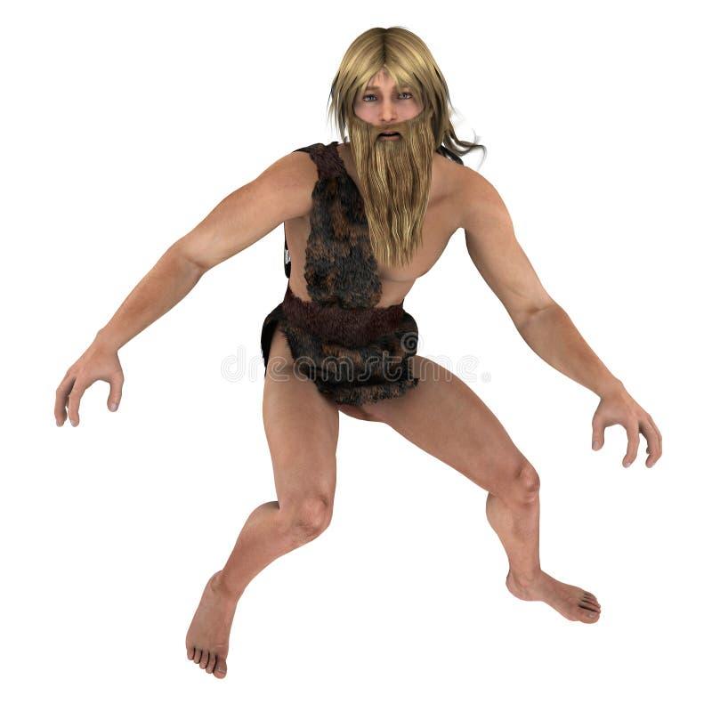 Nordic Caveman Stock Photography
