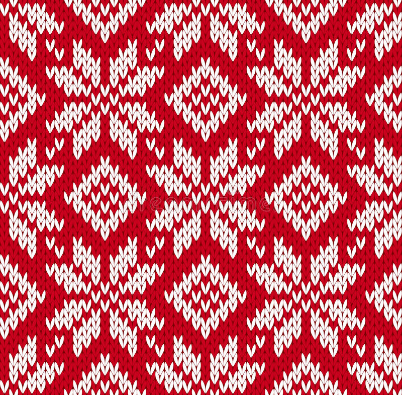 Free Nordic Knitted Seamless Pattern Royalty Free Stock Photos - 32757038