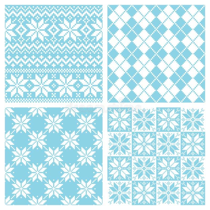 Nordic pattern stock illustration