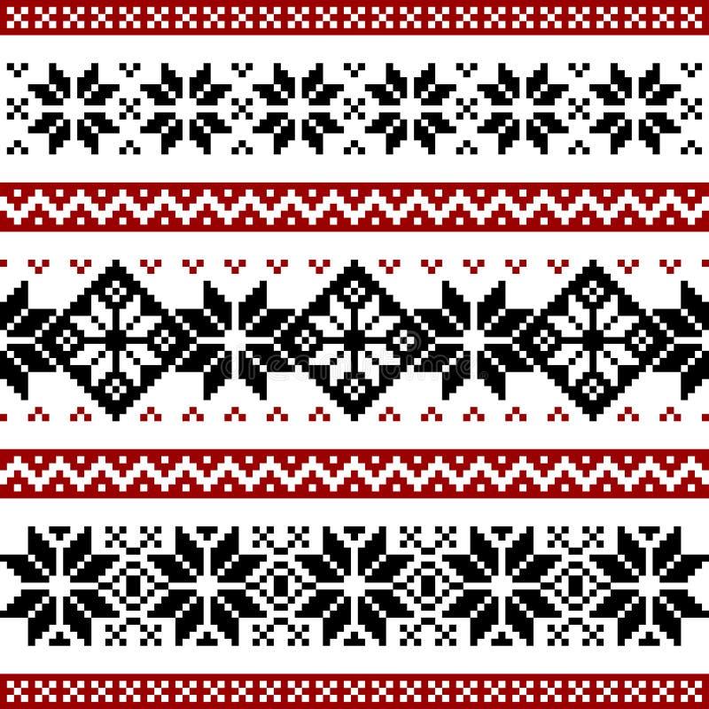 Nordic pattern royalty free illustration