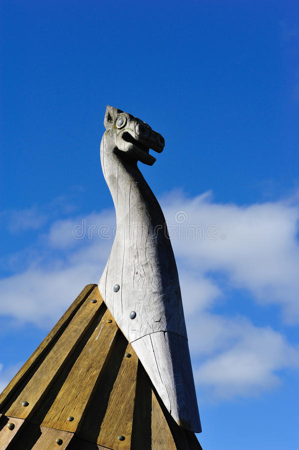Nordic Sculpture near Dannevirke, New Zealand. Dannevirke, New Zealand - September 7th: The Nordic sculpture of a front row boat at Dannevirke, Manawatu, New stock images