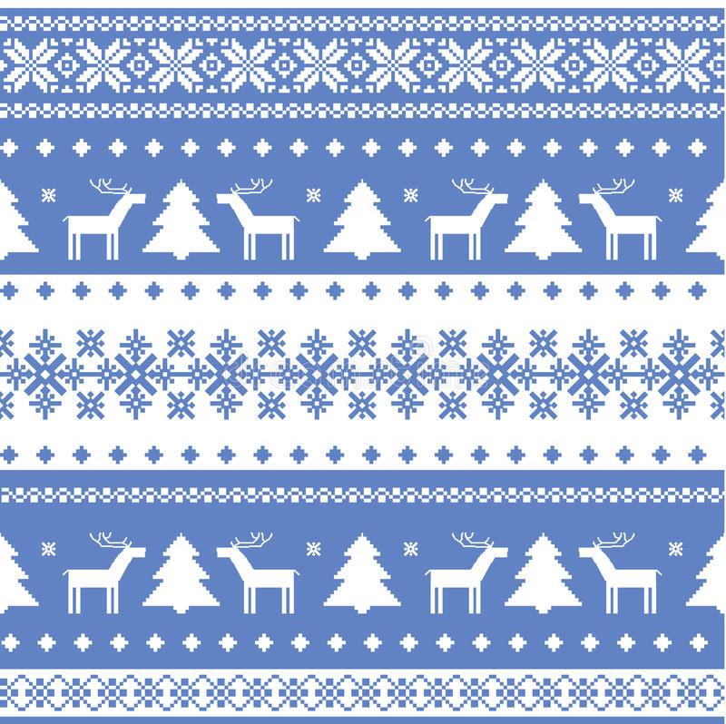 Free Nordic Seamless Christmas Knitted Background Stock Photos - 22193473