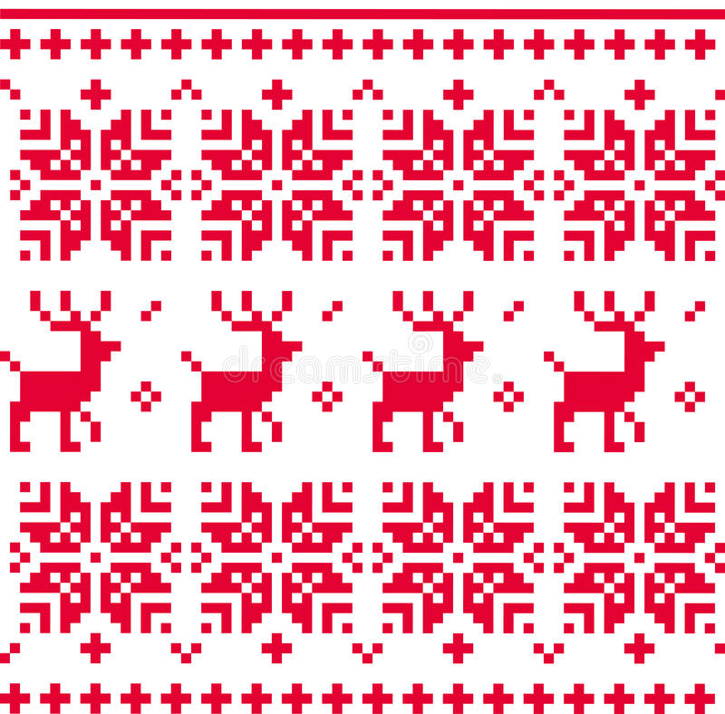 Knitting Font Free Download : Nordic seamless knitted christmas pattern vector stock
