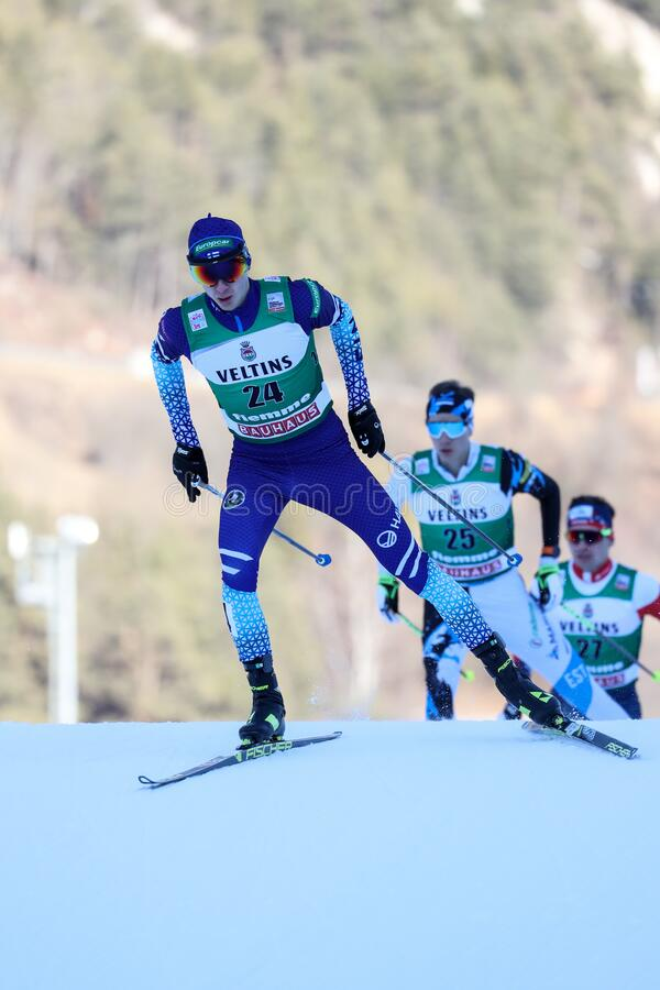 Nordic Ski FIS World Cup - Nordic Combined stock image