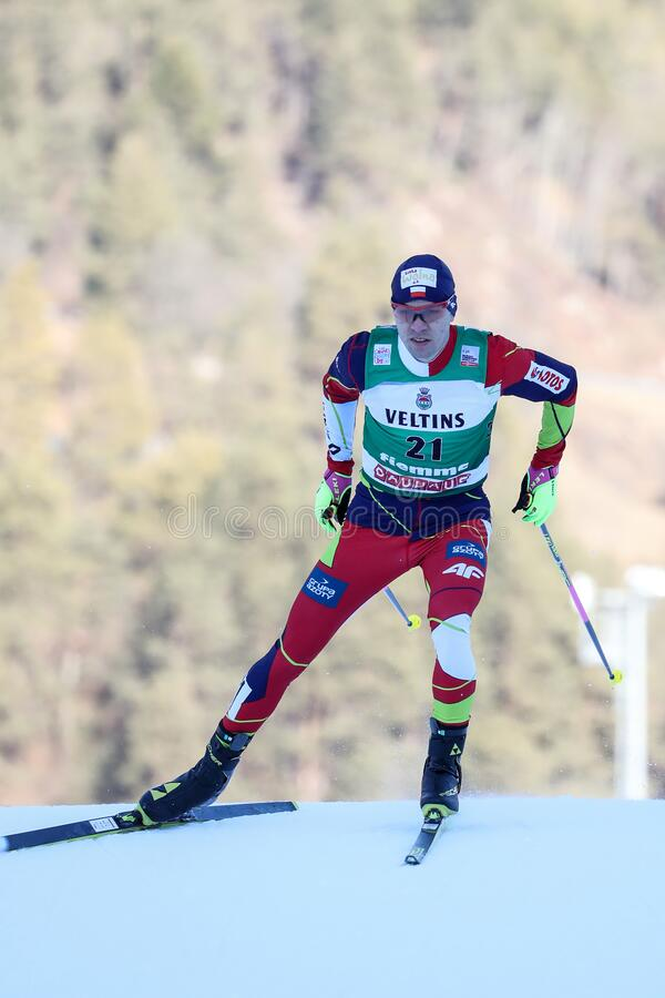 Nordic Ski FIS World Cup - Nordic Combined royalty free stock image