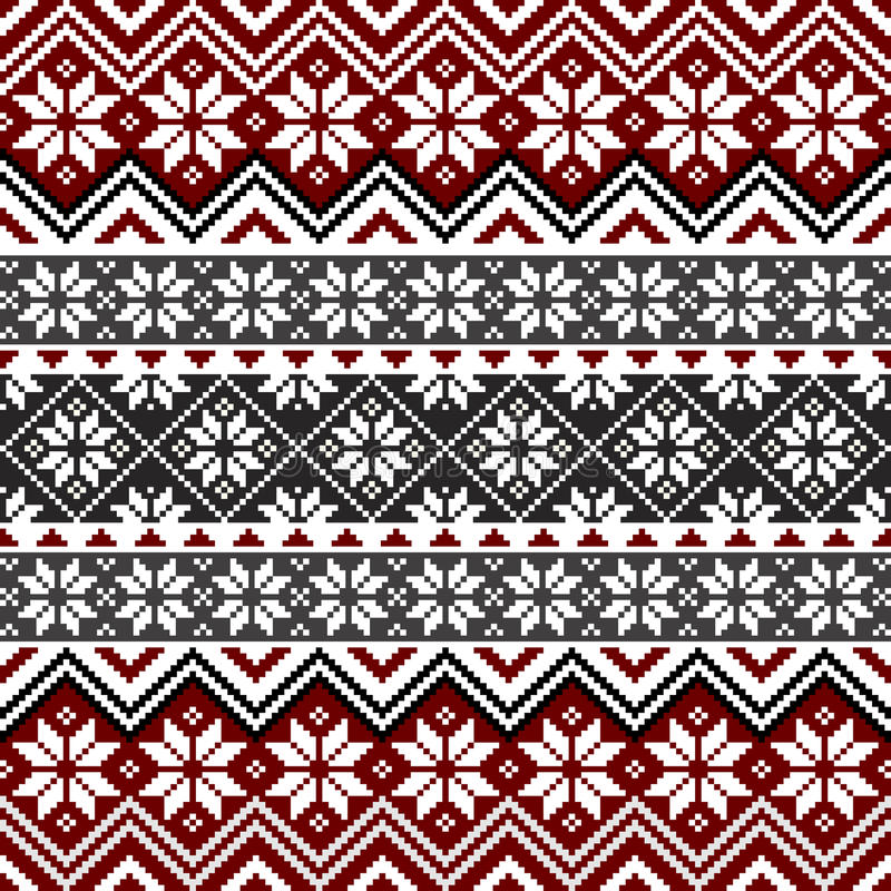 Nordic snowflake pattern vector illustration
