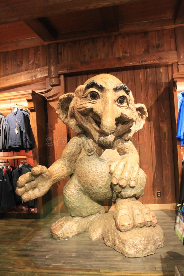 Giant troll in a store at Epcot royalty free stock image