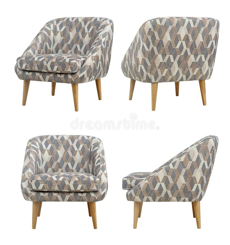 Nordic style chair, different angles, Scandinavian style royalty free stock photo