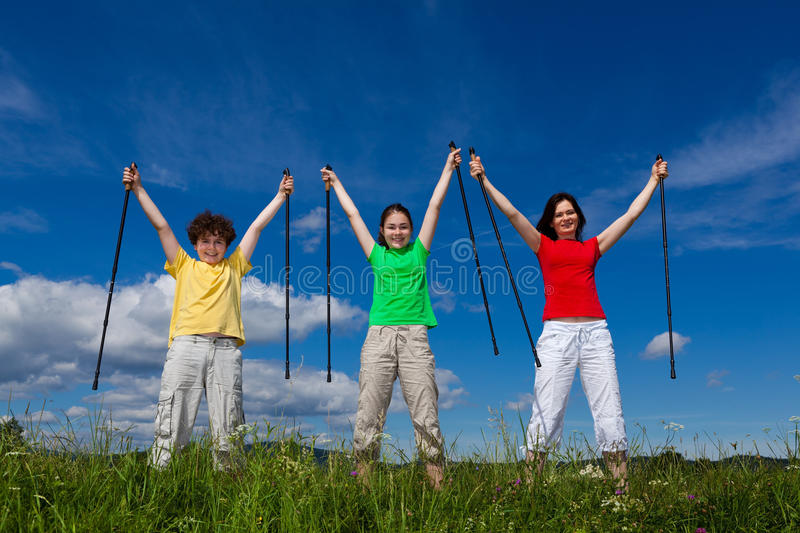 Download Nordic walkers stock photo. Image of female, outdoor - 20522628
