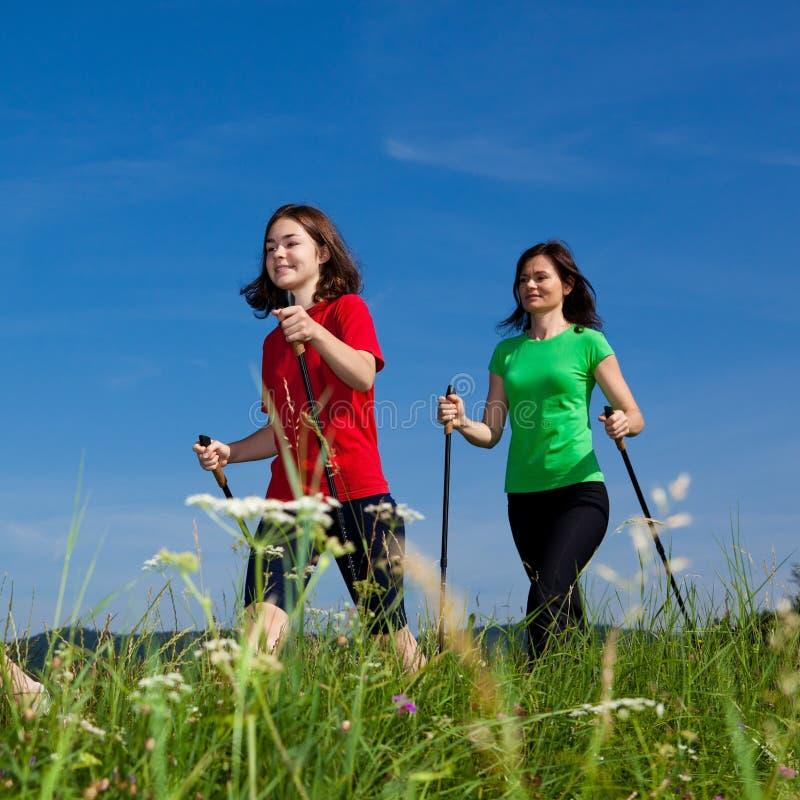 Download Nordic walkers stock photo. Image of kids, people, power - 20635196