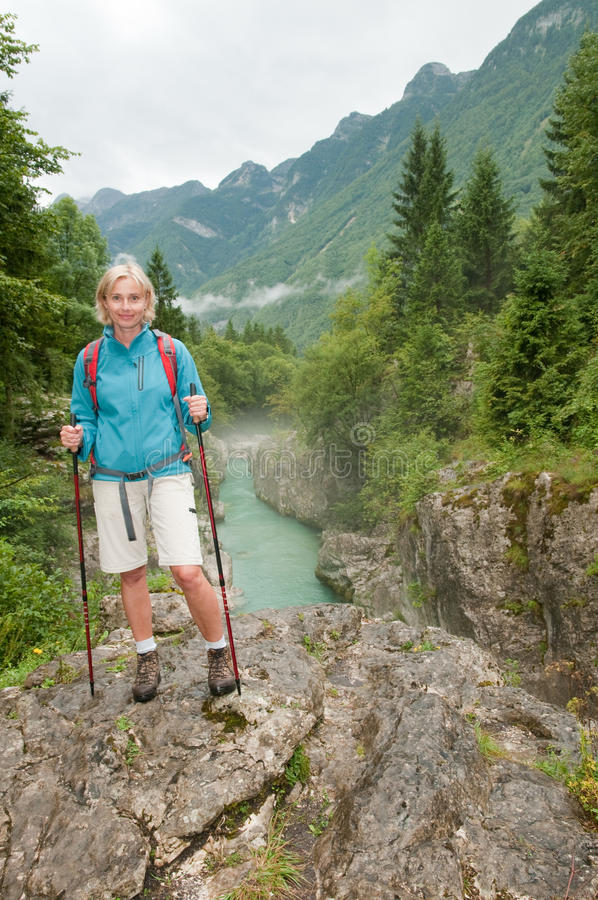 Download Nordic walking stock image. Image of river, adventure - 19067535