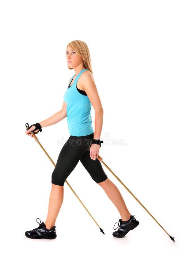 Nordic walking stock photos