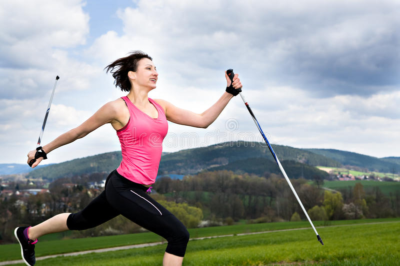 Download Nordic walking stock photo. Image of sports, running - 24697330