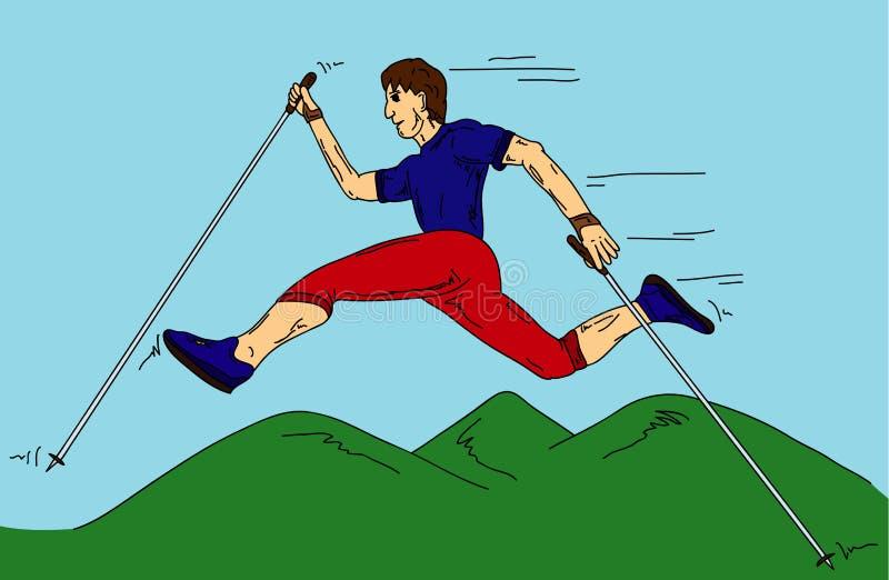 Download Nordic walking stock vector. Illustration of illustration - 26625100