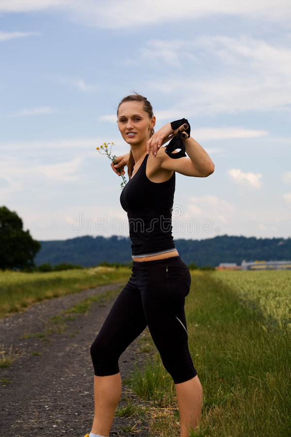 Nordic walking stock photography