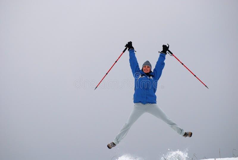 Nordic walking euphoria royalty free stock image