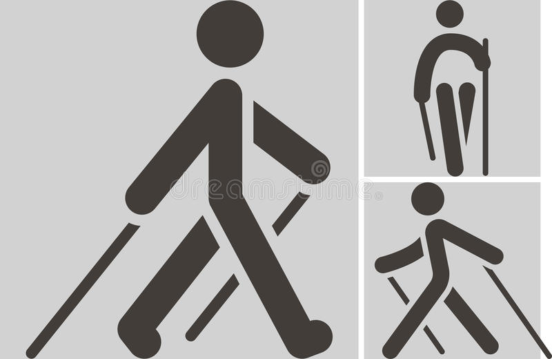 Nordic Walking icon. Health and Fitness icons set - Nordic Walking icon vector illustration