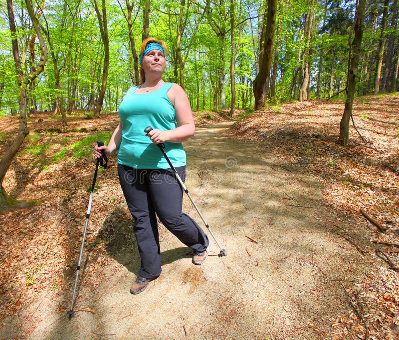 Nordic walking. stock image