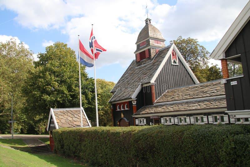 Nordische seamans Kirche im Park entlang Westzeedijk in Rotterdam die Niederlande lizenzfreies stockfoto