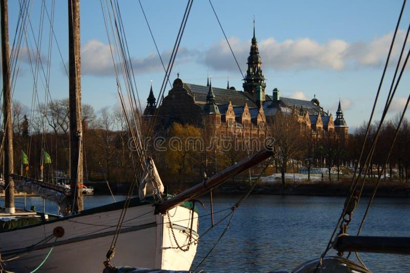 Nordisches Museum Stockholm stockbild