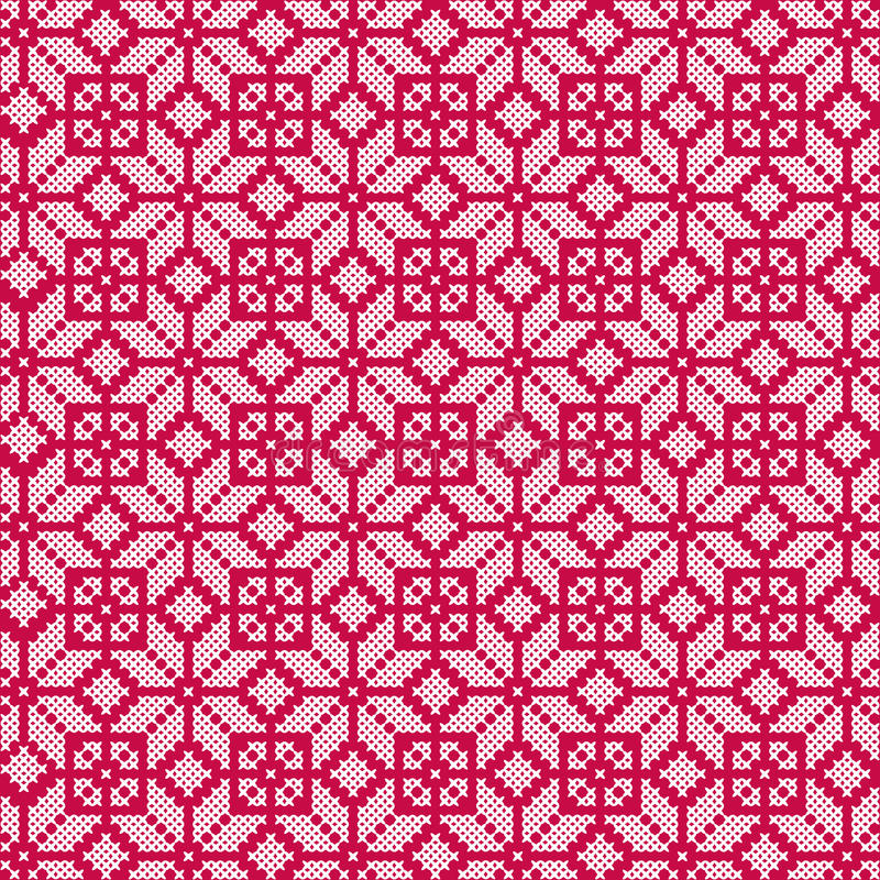 Nordisk röd vit sömlös modell stock illustrationer