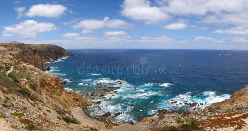 Nordküste Porto Santo stockfotos