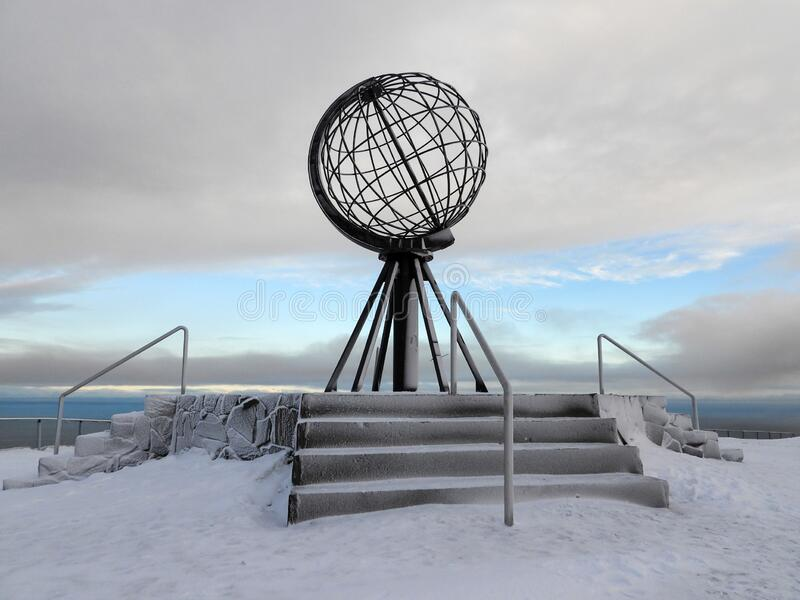 Nordkapp in Winter, Norway royalty free stock images