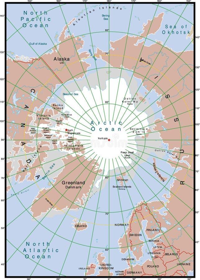 Nordkarte vektor abbildung