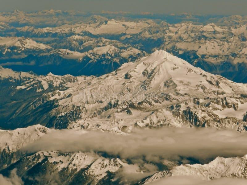 Nordkaskaden-Berge von einem Airplane2 stockbilder