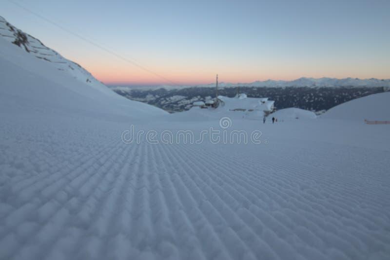 Nordkette滑雪区域 图库摄影