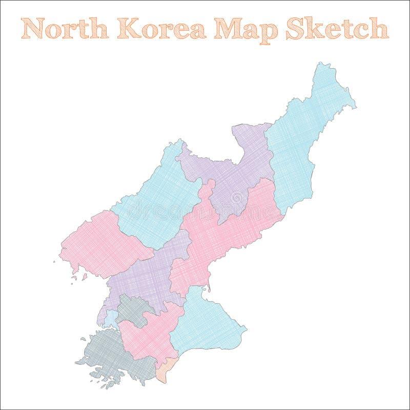 Nordkoreaöversikt stock illustrationer