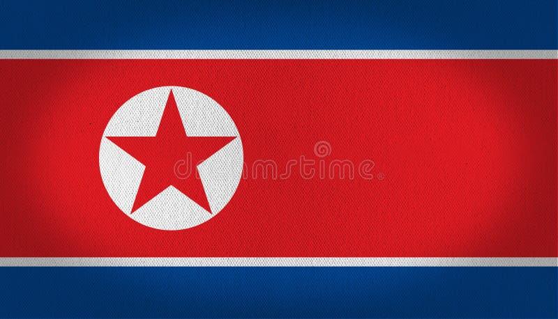 Nordkorea flagga royaltyfri illustrationer