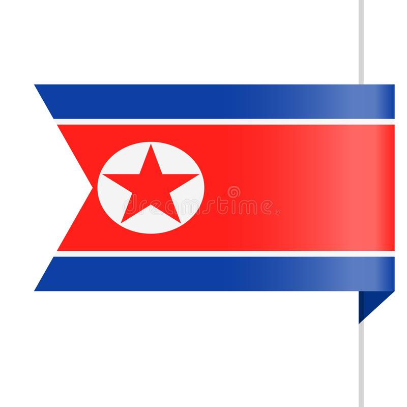 Nordkorea-Flaggen-Vektor-Bookmark-Ikone vektor abbildung