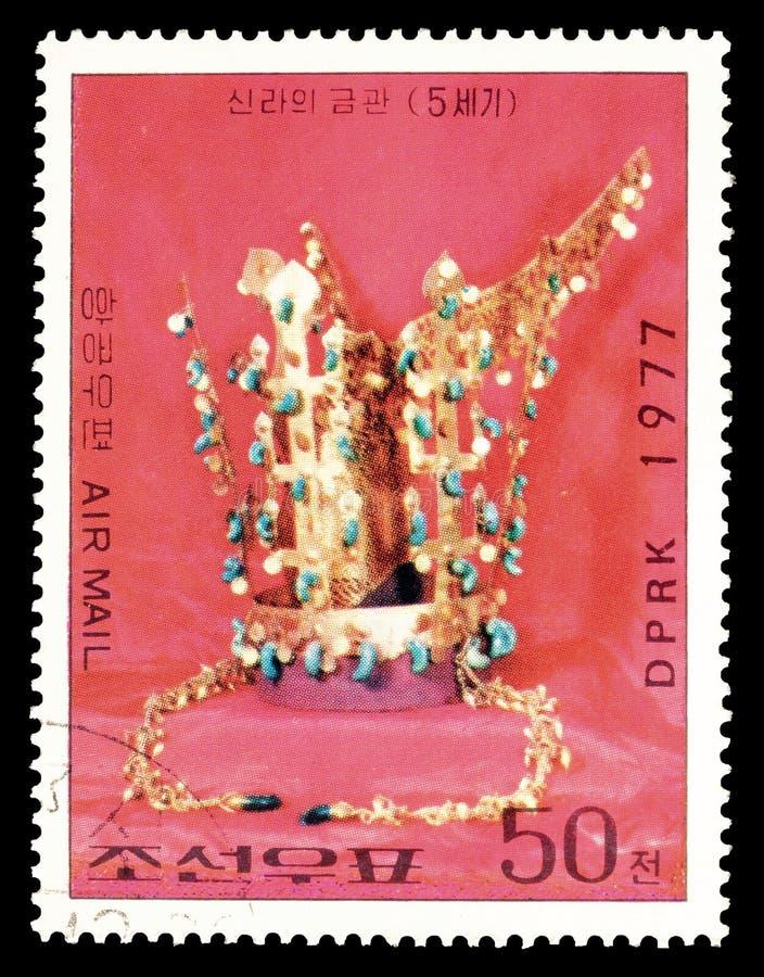 Nordkorea program p? portost?mplar royaltyfria bilder