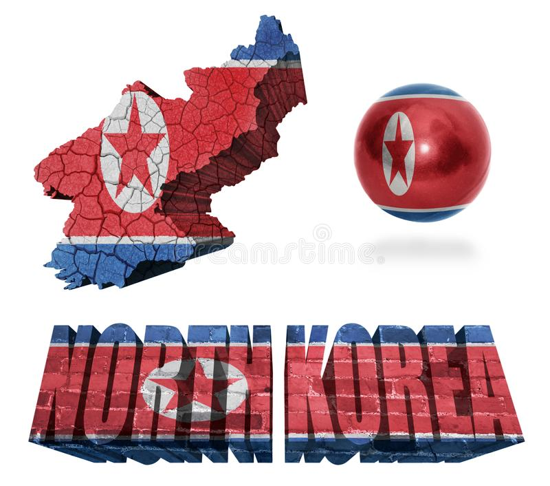Nordkorea-Symbole vektor abbildung