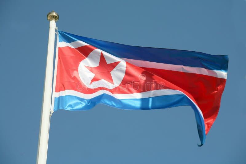 Nordkoreanische Markierungsfahne lizenzfreies stockbild