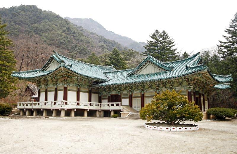 Nordkoreanischer Tempel stockbild