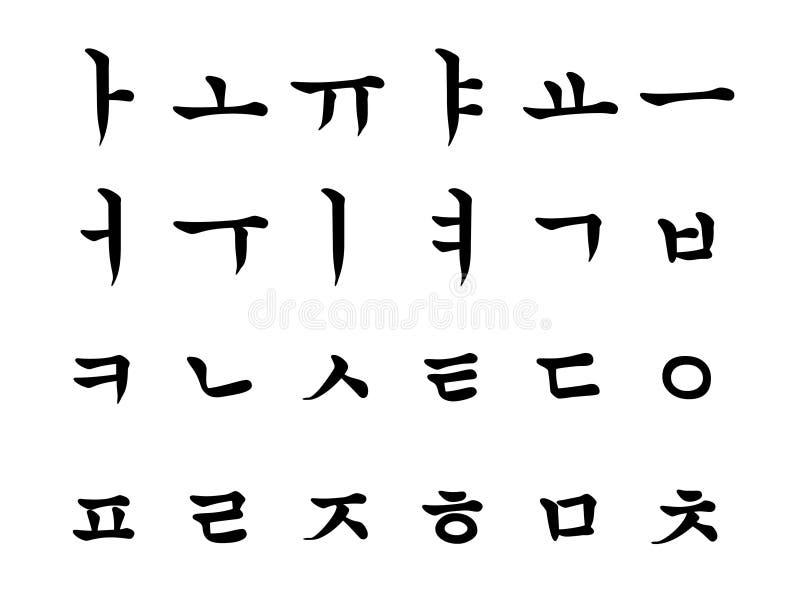 Nordkoreanisches Alphabet Stockfoto