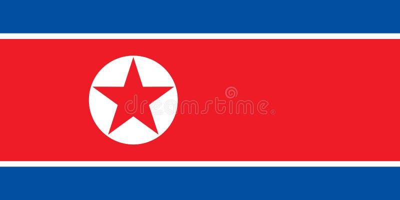 Nordkoreansk flagga av Nordkorea royaltyfri foto