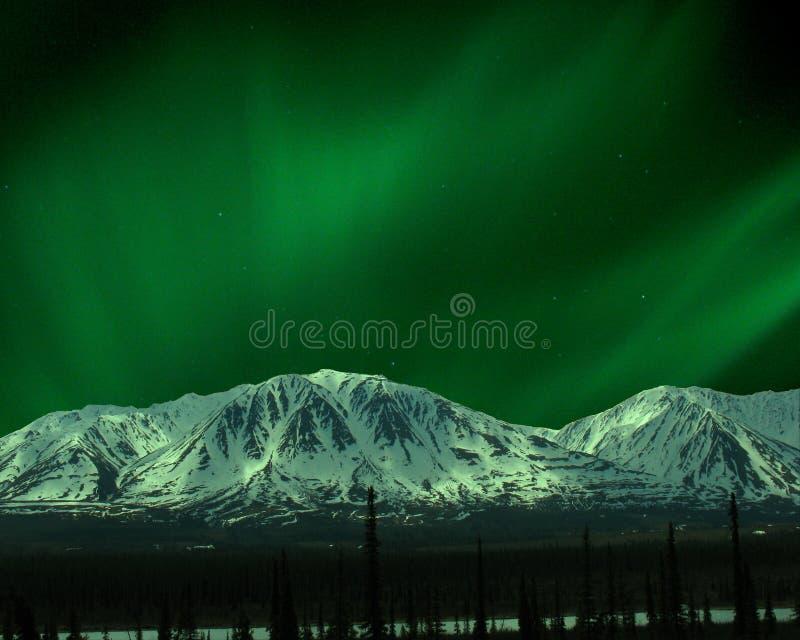 Nordleuchten in der Alaska-Reichweite lizenzfreies stockbild