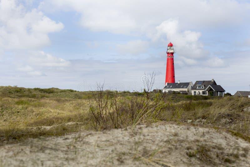 Nordleuchtturm Schiermonnikoog lizenzfreie stockbilder