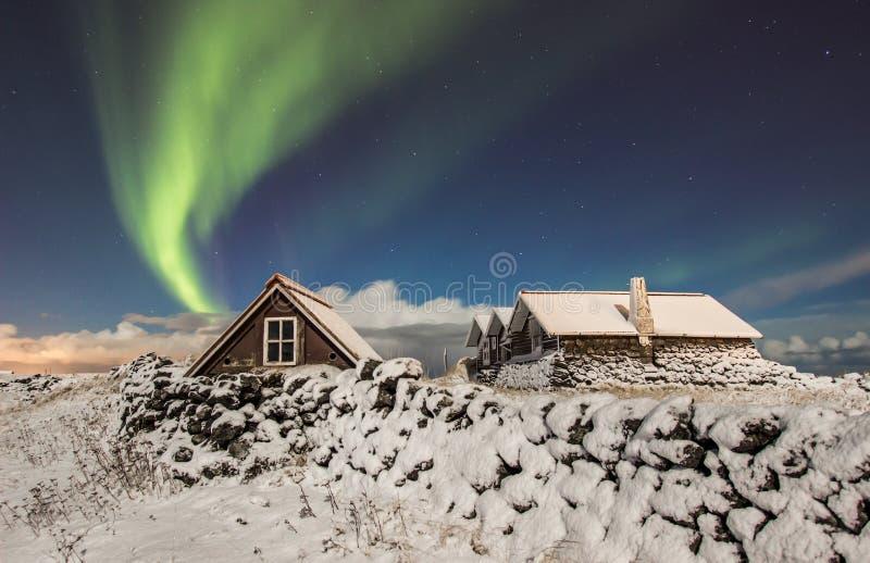 Nordlichter stockfotos