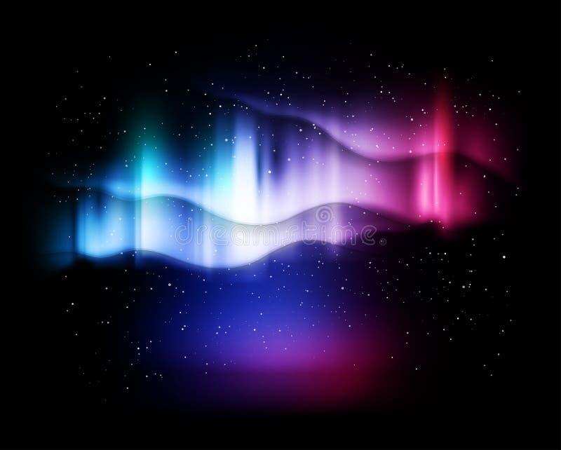 Nordlichter der abstrakten Hintergründe - Vektorillustration stock abbildung