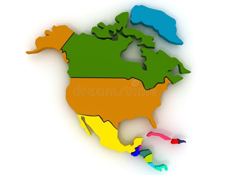 nordlig Amerika översikt vektor illustrationer
