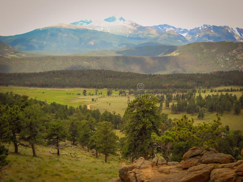 Nordlig Colorado Estes Park Colorado Rocky Mountain nationalpark royaltyfri foto